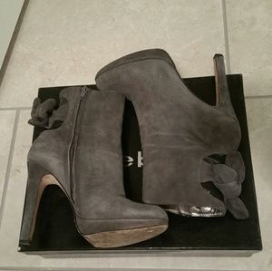 Bebe real suede bootie size 7